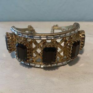 Amethyst & Gold Fashion Bracelet